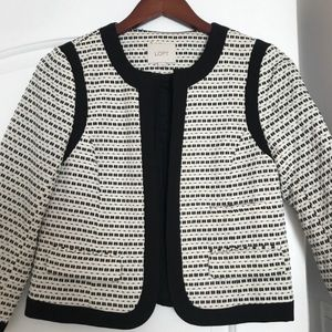 LOFT back and white blazer